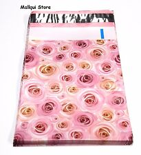 10 - PINK ROSES DESIGN 14 x17 MAILER POLY BAGS MAILING PLASTIC BAGS  Desig. #19