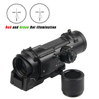 Tactical Rifle Scope 1x-4x Fixed Dual Purpose illuminated Red Green Dot Sight