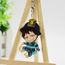Fire Force Anime Key Chain Key Charms Pendants Shinra Kusakabe Keychain