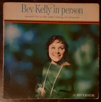 BEV KELLY In Person 1960 LP LIVE in San Francisco Jazz MONO - VG - FREE SHIPPING