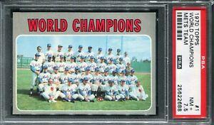1970 Topps #1 World Champion Mets Team PSA 7.5 NM+