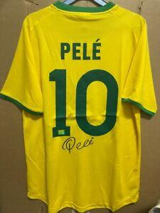 Signed Pele Brazil shirt with Coa