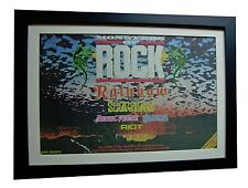 MONSTERS OF ROCK+Donnington+POSTER+AD+RARE ORIGINAL 1980+FRAMED+FAST GLOBAL SHIP