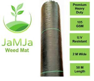 ON SALE Weed Mats 2m * 50m 105 GSM Weed mat control weeds Weedmat Garden