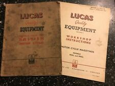 1948 LUCAS MOTORCYCLE ELECTRICAL EQUIPMENT SERVICE MANUAL E3H E3AR MC45 MO1 MN2+