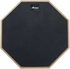 Drum 2-Sided Practice Pad Rubber Surface Training Mute Silent Drum Pad 12 Inch