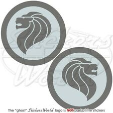 """SINGAPORE AirForce RSAF LowVis Aircraft Roundel 75mm (3"""") Stickers Decals x2"""