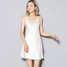 Ladies Satin Faux Silk Full Slip Under Dress Spaghetti Strap Camisole Nightdress
