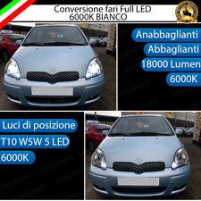 CONVERSIONE FARI LED TOYOTA YARIS MK1 KIT LED H4 + LED POSIZIONE T10 6000K