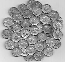 Full  Roll of 50 Silver Mercury DImes    Lots of 1942 P,D,and S