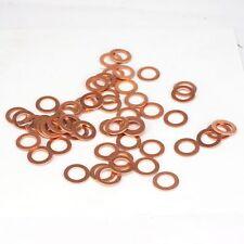 50 PCS Multiple Metric Copper flat gasket sealing ring Crush washer for boat