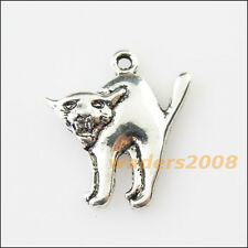 10 New Halloween Animal Cat Tibetan Silver Tone Charms Pendants 18.5x20.5mm
