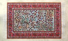 Miniatur Teppich, reines Polyester für Krippe oder Puppenhaus, Blumenmuster.
