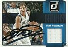 Dirk Nowitzki Signed 2015 Donruss Dallas Mavericks Jersey Card - COA - Germany