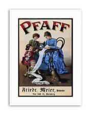 PFAFF SEWING MACHINE GERMANY Poster Vintage Advertising Retro Canvas art Prints