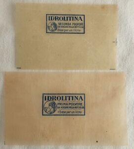 INVOLUCRO POLVERE IDROLITINA PRIMA SECONDA POLVERE MEDICINA PRIMI '900 MEDICINE
