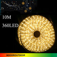10M 360 LED Warm White Color Rope Lights 3 Wire With 8 Function Controller