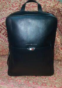 Tommy Hilfiger TH Business Leather Backpack Black Laptop holder