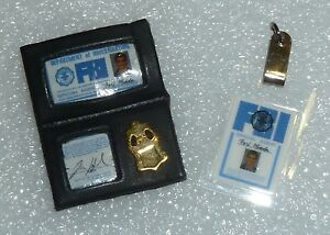 Barbie / Ken Agent Fox Mulder Badge & ID Tag ~ Newly Unboxed