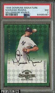 1998 Donruss Signature Millennium Marks Mariano Rivera Yankees HOF AUTO PSA 7 NM