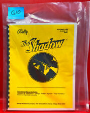 The Shadow Pinball Operations/Service/Repair /Troubleshooting Manual Bally G10