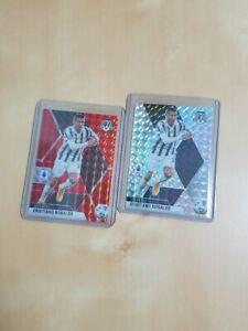 2020-21 Panini Mosaic Serie A Soccer CRISTIANO RONALDO Red + Mosaic Silver LOT
