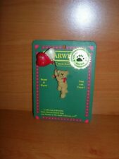 Htf Boyds Bear Heart Balloon Bear Pin on Placard for Moms Day or Valentine