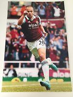 RARE Joe Cole West Ham United Signed Photo + COA AUTOGRAPH