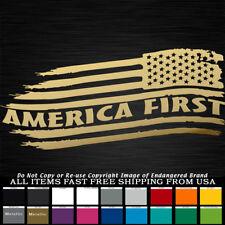 America First Tattered Flag  sticker Stars Right decal NRA 2nd Amendment 3%