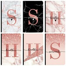 Personalised initials Name Marble Passport Holder Cover & Luggage Tag PU Leather