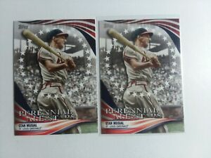 Stan Musial 2019 Topps PAS-12 2 Card Lot