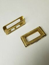 ORIGINAL ITALIAN CARCANO BRASS STRIPPER CLIPS 6 ROUND. SET OF 2 PIECES.