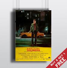 TAXI DRIVER *1976 MOVIE POSTER Classic Vintage Film A3 A4 Print ROBERT DE NIRO
