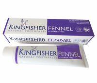 Kingfisher Pasta de dientes Hinojo - SIN FLÚOR - 4x100ml no testado en animales