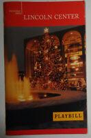 The Songs Of Yossele Rosenblatt - Playbill - December 21, 2003 Lincoln Center