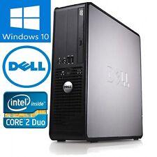 Fast Dell Optiplex Windows 10 Desktop Computer Pc Tower C2D 4Gb Dvd wifi custom