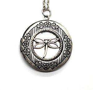 Handmade Dragonfly Locket Necklace