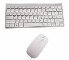 Ultra Slim Thin Quiet Wireless Keyboard and Mouse Combo 2.4GHz White and Silver