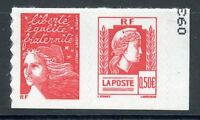 STAMP / TIMBRE FRANCE NEUF N° P3716 ** EN PAIRE MARIANNE ALGER / ADHESIF