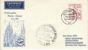 DDR  Erstflug   Berlin - Erfurt  1957
