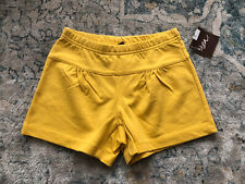 NWT Tea Collection French Terry Shorts Girls Sz 7 Yellow