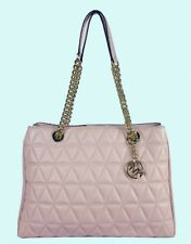 MICHAEL KORS SCARLETT Soft Pink Quilted Leather LG Chain Tote Bag Msrp $398.00