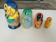 Disney Aladdin Wooden Russian Nesting Doll Handcrafted Dolls Hand Painted