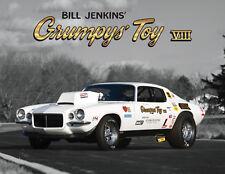 "Bill Jenkins Gumpy's Toy 1970 Pro Stock Camaro 11""x14"" Full Color Poster Photo"