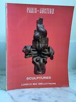 Catalogue de vente Paris-Auction Sculptures Moderne et contemporaine 21 Mai 1990