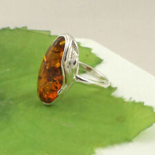 Amber Cocktail Sterling Silver Fine Rings