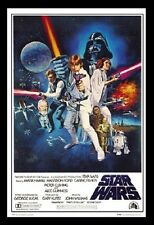 (FRAMED) STAR WARS A NEW HOPE LUKE MOVIE POSTER 96x66cm PRINT PICTURE