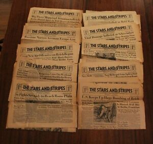 WWII Stars and Stripes Newspaper 1943 Lot of 10