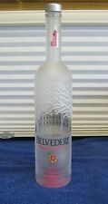 Empty Bottle Pink Grapefruit Belvedere Vodka Bottle 750ml Crafts Frosted Glass