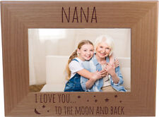 Nana I Love You To The Moon And Back 4-inch x 6-Inch Wood Picture Frame